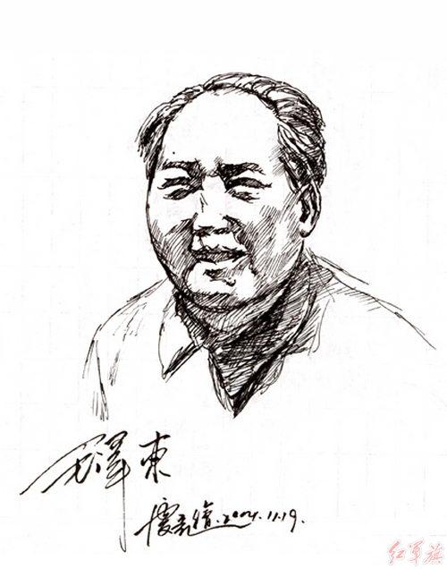 《毛泽东画集》素描
