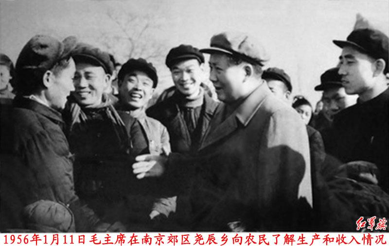 ...毛主席塑像的来历 1956年1月,毛泽东还视察了位于南京东郊的...
